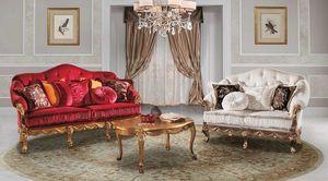CASANOVA, Elegantissimo divano classico, in velluto