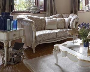 Mafalda divano, Divano con decori foglia oro