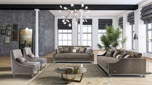 ROYAL divano, Elegante divano con sedute in memory