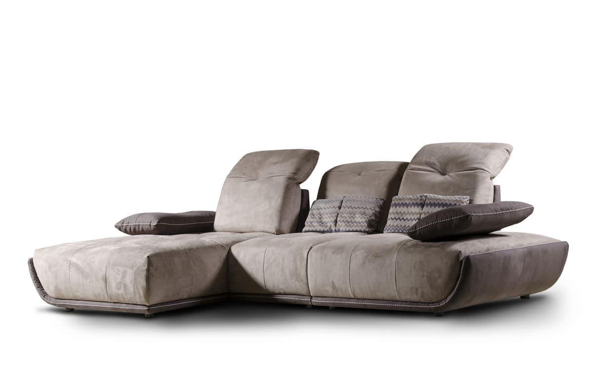 Divano con chaise longue, schienale reclinabile  IDFdesign