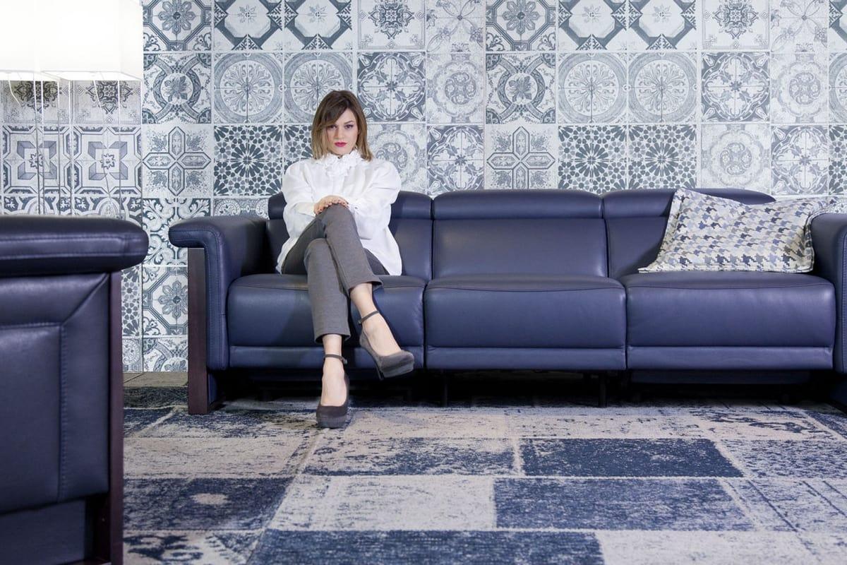 Divani Con Meccanismo Relax divano 3 posti in pelle con meccanismo relax | idfdesign