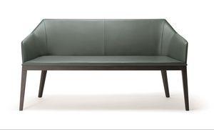 ROCK SOFA 020 D, Divanetto moderno, con gambe in legno massello