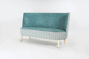 BS528L - Divano, Sofa con schienale alto arrotondato