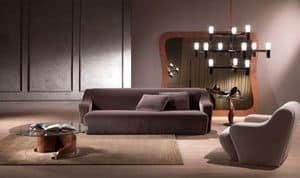 DI18 Morfeo divano, Divano moderno componibile, imbottito con poliuretano