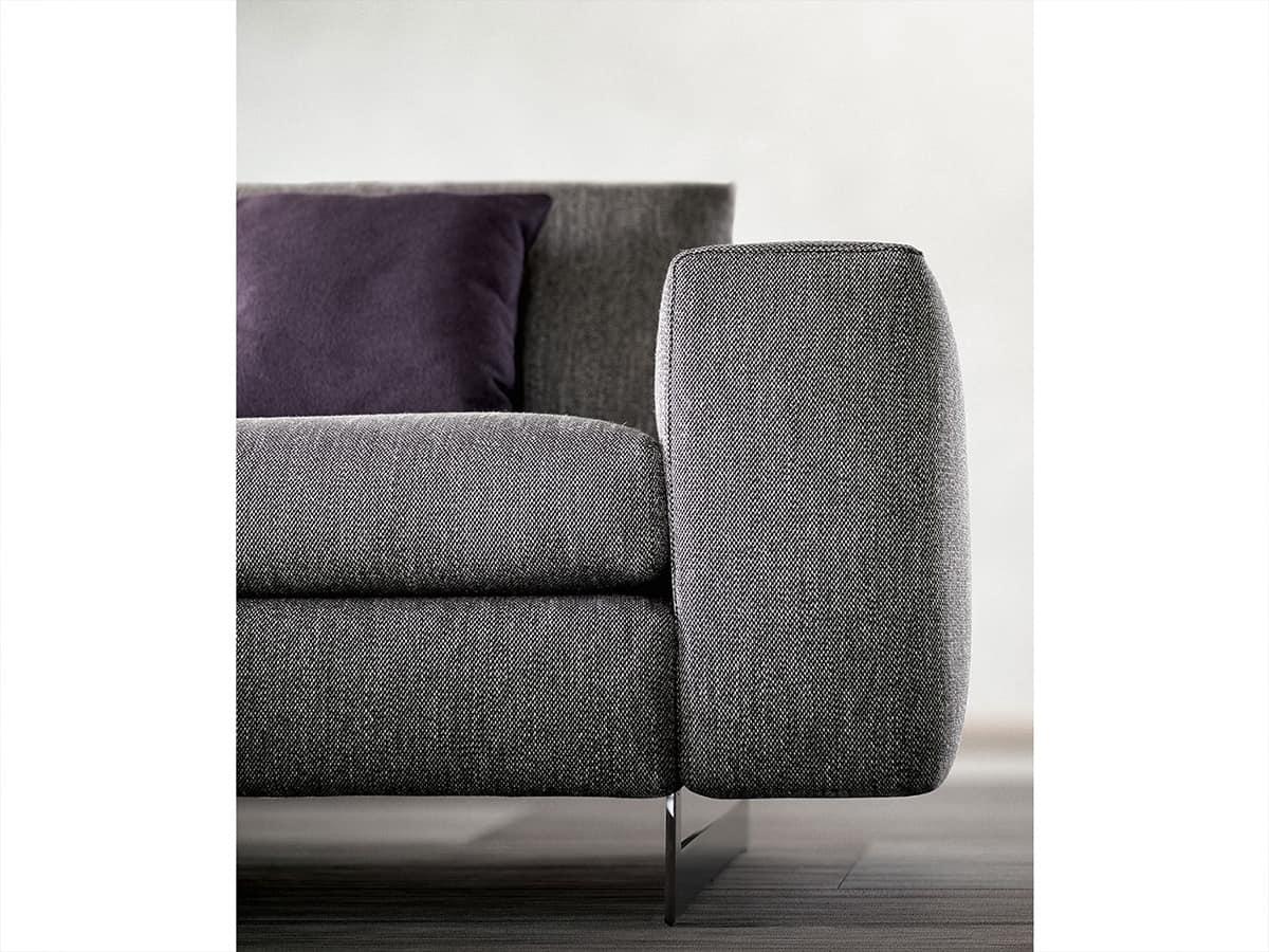 Duo, Divano modulare, con schienale reclinabile