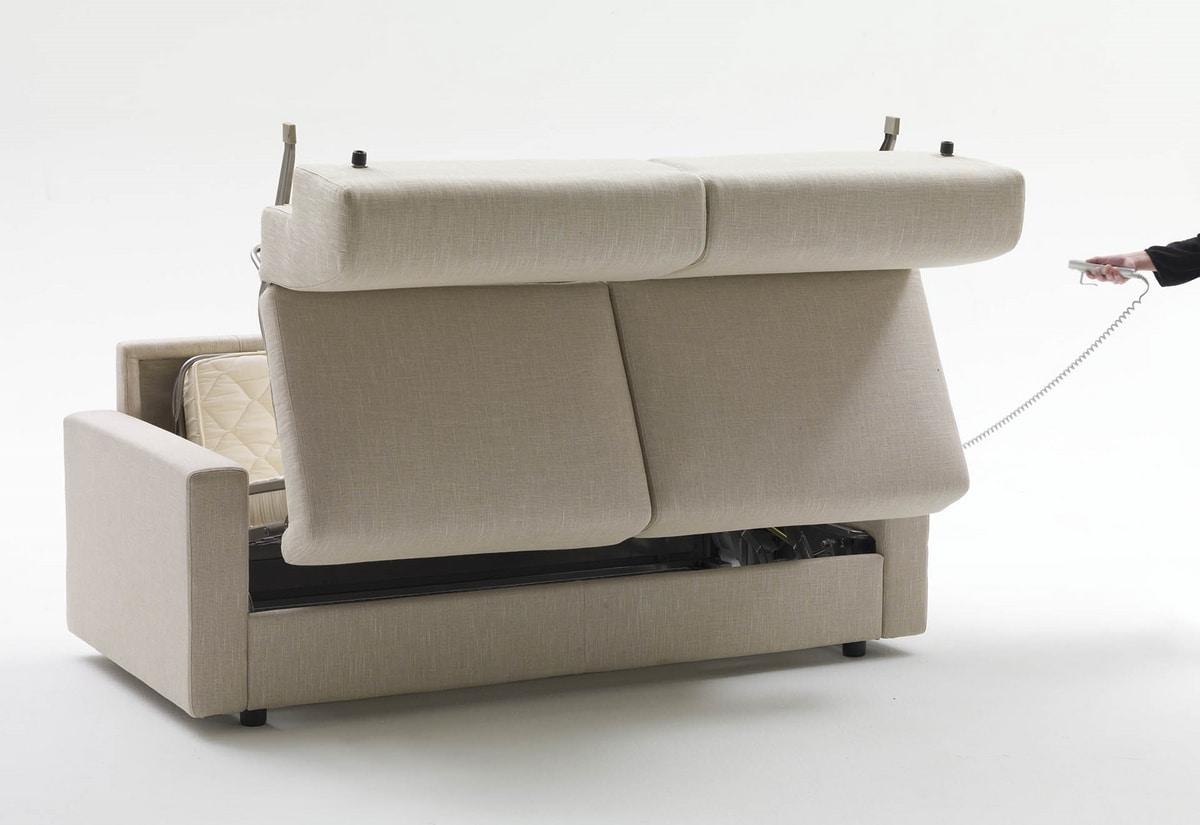 Lampo, Divano letto con braccioli personalizzabili