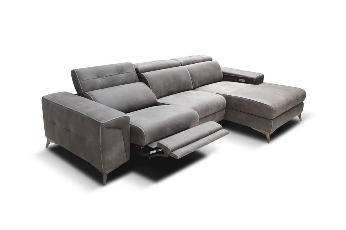 Divani Con Meccanismo Relax divano componibile con meccanismi relax e porta usb | idfdesign