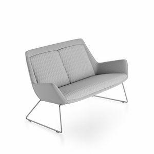 Roxy sofa, Divanetto moderno con base in metallo