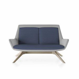 Roxy sofa, Divanetto con base in legno