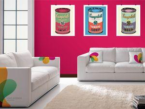 Santiago personalizzato 02, Morbido divano, personalizzabile in pelle stampata a colori
