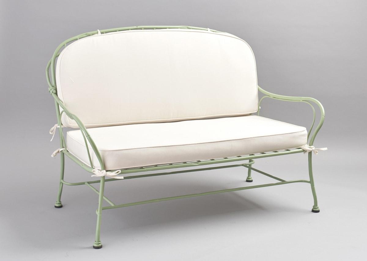 Divani Da Esterno Impermeabili divano 2 posti in ferro zincato per esterno   idfdesign