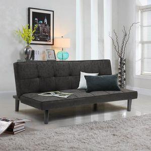 Divano Letto Design in tessuto 2 Posti per casa e ufficio GIADA - DI3178GIN, Divano letto 2 posti semplice