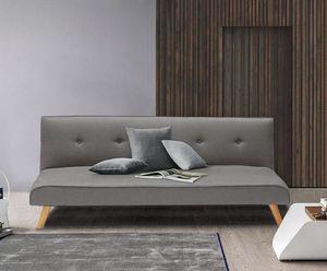 Divano letto in tessuto 2 posti per salotto e soggiorno design LARIMAR - DI3240FGC, Divano trasformabile in letto