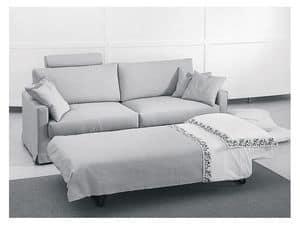 Dry divano-letto, Divano letto moderno, varie finiture, per appartamenti