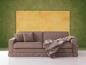 Polifemo, Divano con letto nascosto, apertura frontale, per salotto