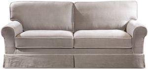 Rivoli divano letto, Divano letto in stile classico, in lino, tessuto o pelle
