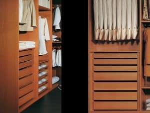 Attrezzature Interne 12, Guardaroba moderno con accessori, per camere da letto