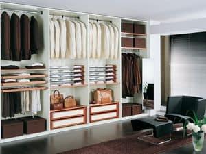 Cabina Armadio Tamburata 04, Guardaroba modulare per negozi moderni