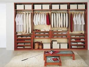 Cabina Armadio Tamburata 07, Guardaroba modulare per negozi di vestiti