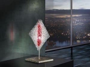 Alaska lumetto, Abatjour a forma romboidale, per Uffici in stile moderno