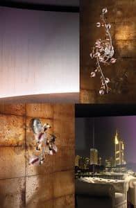 Ametista applique, Lampada da muro per albergo in stile contemporaneo