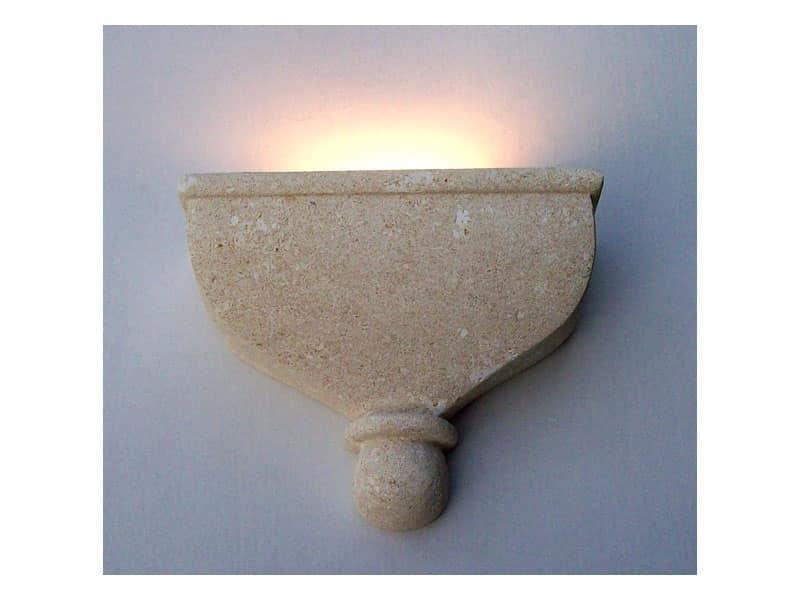 Catleia, Lampada a parete, realizzata in pietra