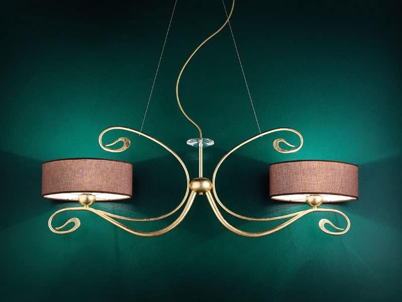 Charme applique, Lampada da parete in metallo forgiato artigianalmente
