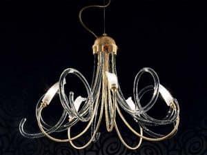 Chic lampadario, Lampadario con diffusori interamente fatti a mano