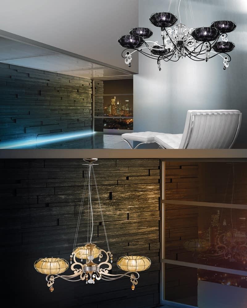 Lampade Da Soffitto Per Taverna lampada con diffusori in organza e strass swarosky | idfdesign