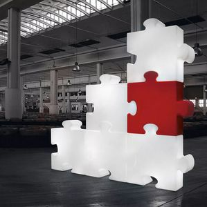 Lampada da terra modulare design moderno contemporaneo Slide Puzzle LP PUZ050A, Lampada modulare a forma di puzzle