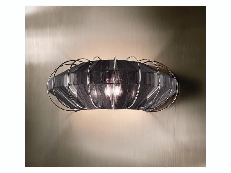 Moon applique, Lampada elegante in ferro forgiato, per camere d'albergo