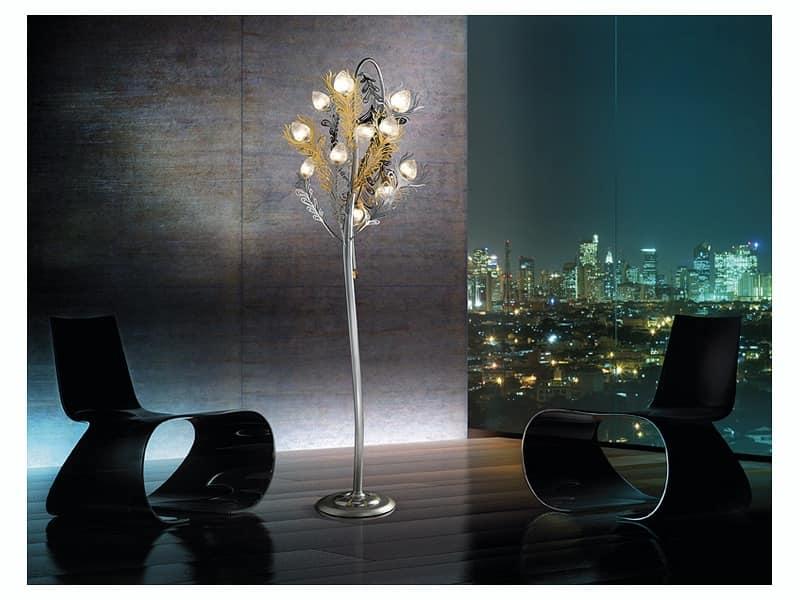 Musa piantana, Raffinata lampada da terra per uffici e soggiorni