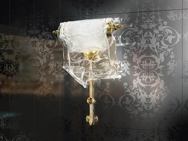 Poeme applique, Lampada da muro in metallo forgiato, per Ristorante