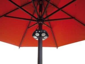Sole Light, Lampada per ombrellone, illuminazione a led
