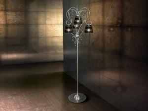 Venezia piantana, Lampada da pavimento in ferro, per ricchi soggiorni