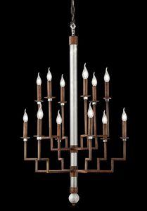 211112, Lampadario dal design medioevale