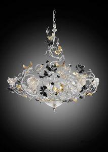 215112, Lampadario con farfalle decorative