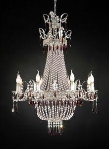 97518, Sfarzoso lampadario in vetro