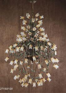 Art. 27150/120 Butterfly, Lampadario con elementi floreali