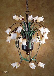 Art. 27150 Butterfly, Lampadario con decori a forma di fiore