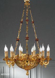 Art. MER 458, Lampadario in stile ottocento