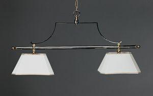 BILIARDO HL1061CH-2, Lampadario con 2 luci, stile biliardo