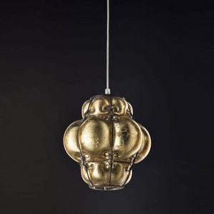 Foglia Oro Ms207-030, Lampada a sospensione finitura oro