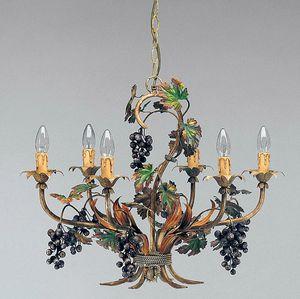 L.5190/6, Lampadario con decorazioni a forma di grappoli d'uva
