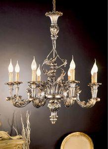L.7440/8, Lampadario con decorazioni in argento