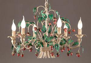 L.8335/6, Lampadario con fragole decorative