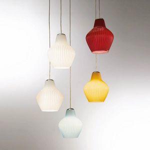 London Ls602-025, Lampada a sospensione in vetro colorato