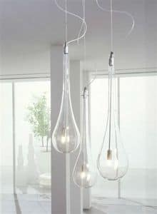 Splash, Lampade a forma di goccia, da soffitto o parete