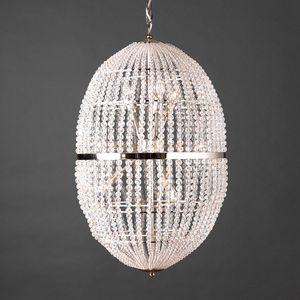 UOVO HL1090CH-12, Lampadario con sfere di cristallo trasparenti