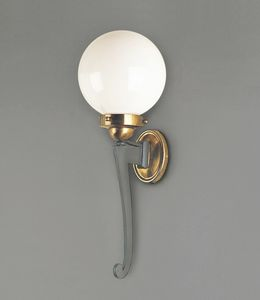 CAPRI GL3036WA-1, Lanterna da esterni in ferro e ottone